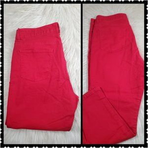 Talbots womans size 14 red high rise slim crop